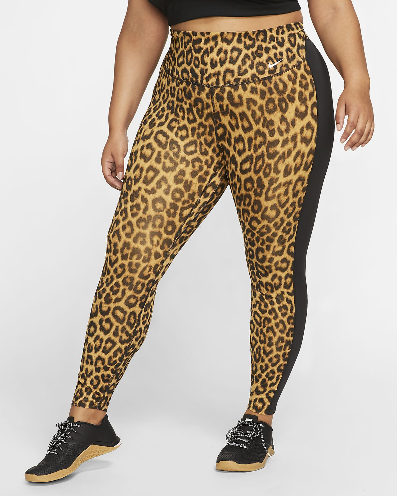 Nike One Mallas de 7/8 con estampado de animal (Talla grande) - Mujer