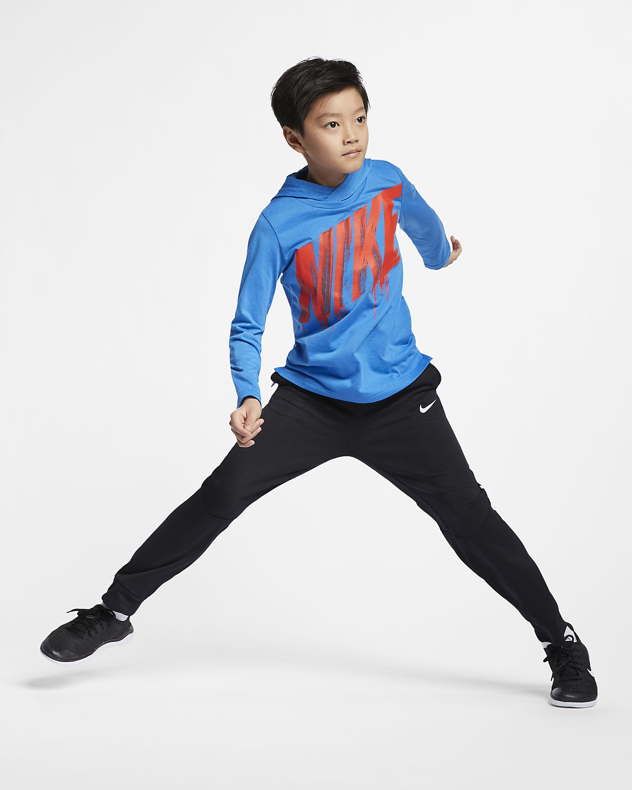 46ea9476 Nike Breathe Big Kids' Long-Sleeve Hooded Training Top. Nike.com