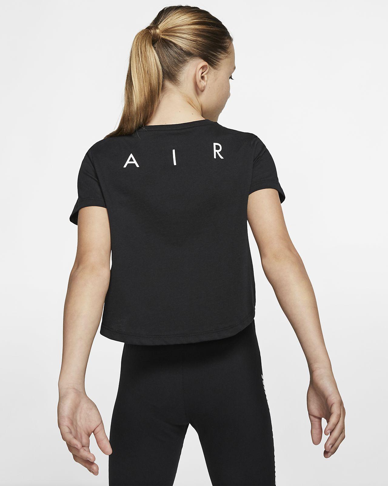 fe8136b4a8c2 Μπλούζα με κοντό μήκος Nike Air για μεγάλα κορίτσια. Nike.com GR