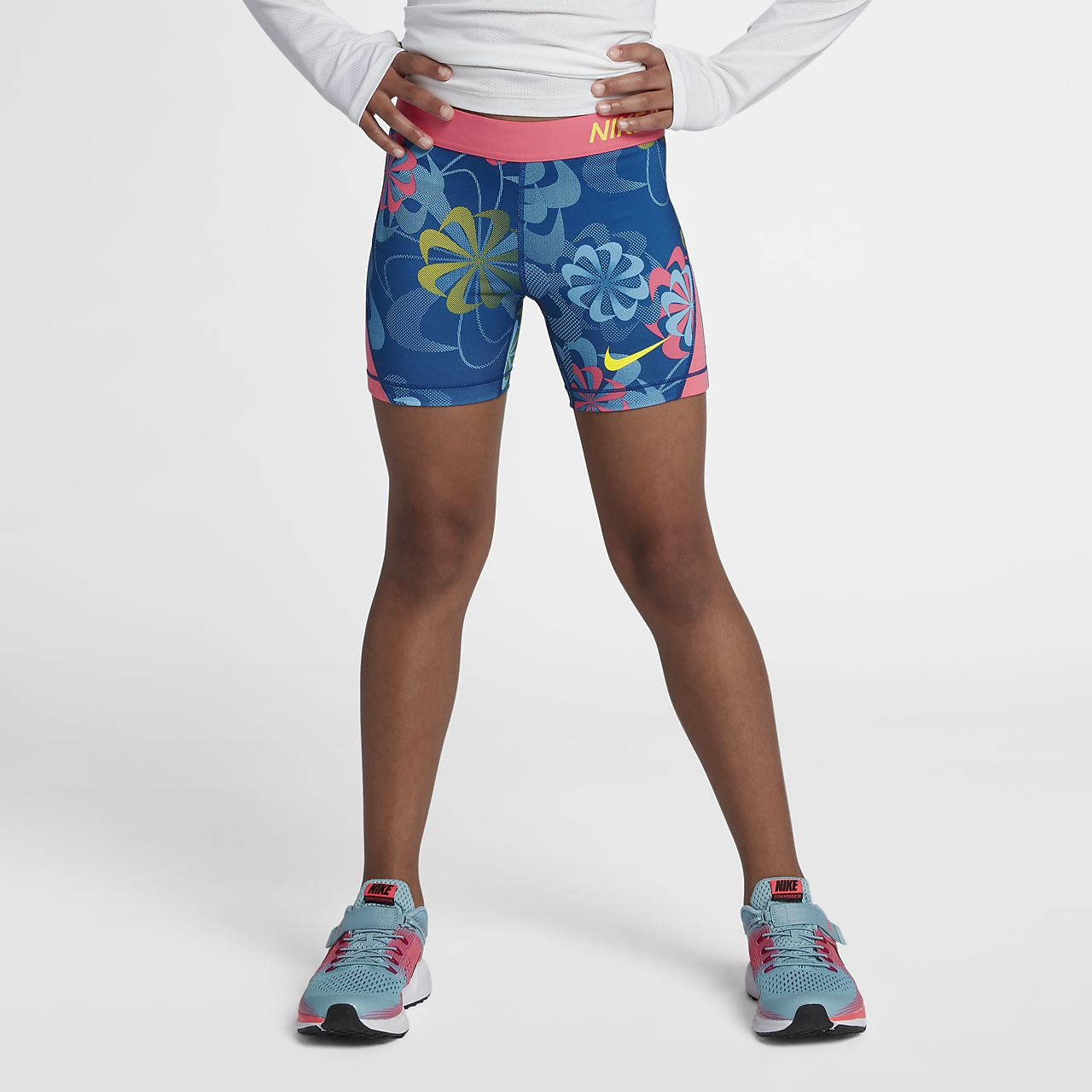 nike pro big kids girls running shorts nikecom