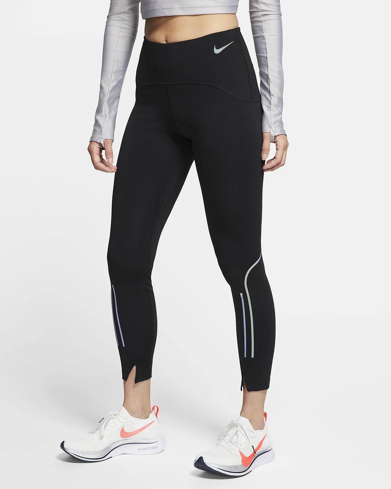 Женские слегка укороченные тайтсы для бега Nike Speed