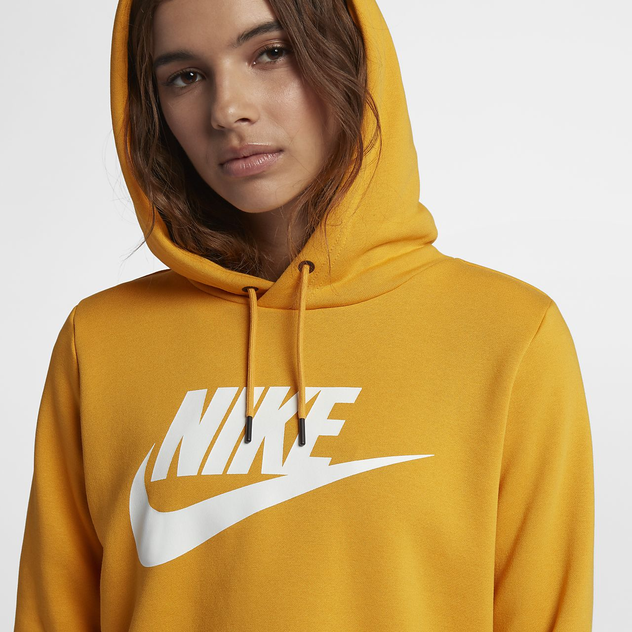 nike sportswear yellow hoodie
