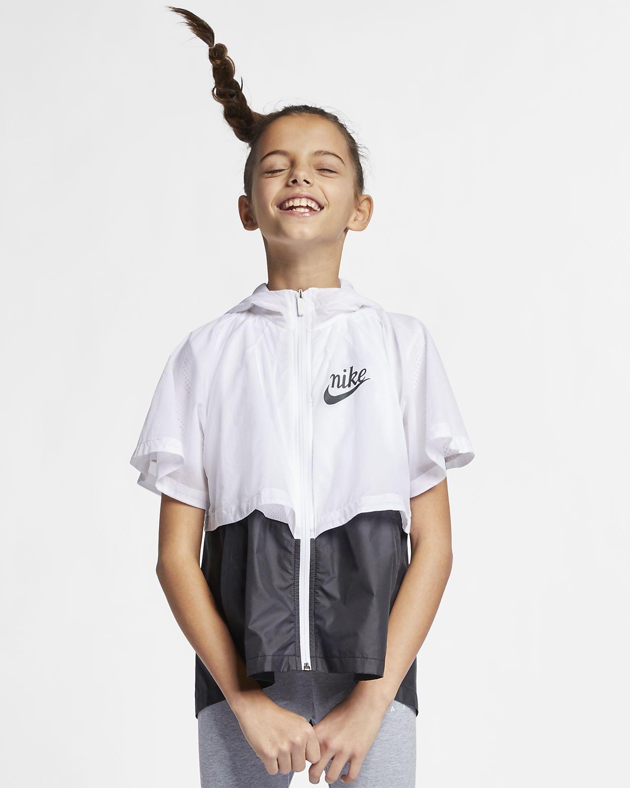 """Nike Sportswear Windrunner """"Translucent"""" wasserabweisender Windbreaker für ältere Kinder (Mädchen)"""