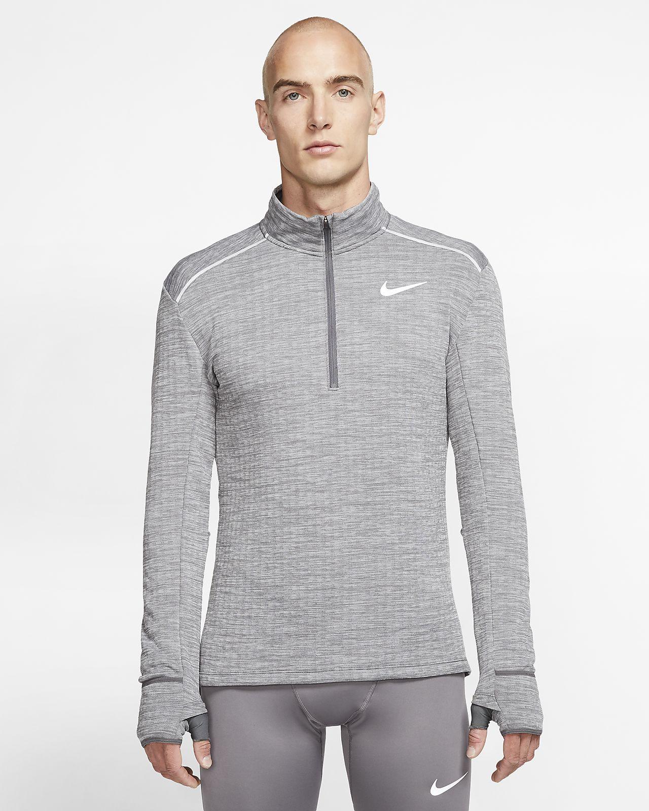Męska koszulka do biegania z zamkiem 1/2 Nike Therma Sphere 3.0
