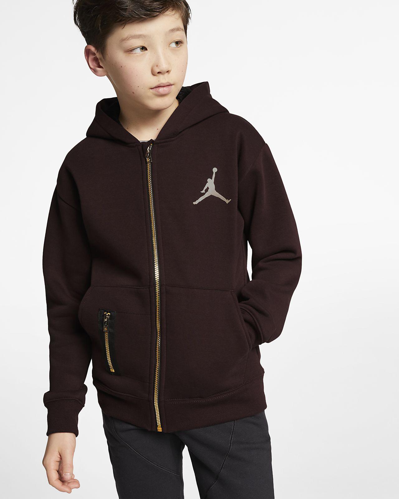 Rozpinana bluza z kapturem dla dużych dzieci (chłopców) Jordan