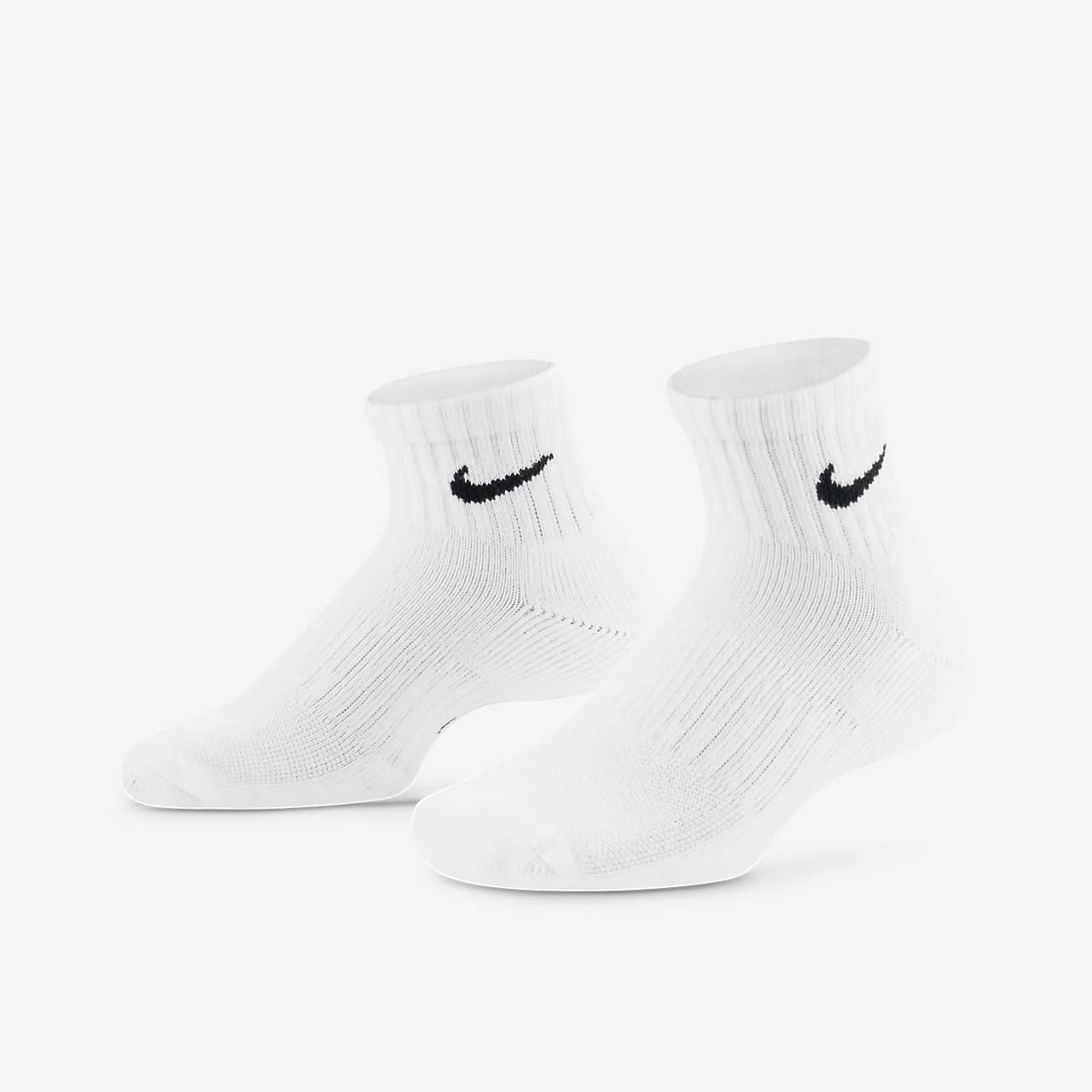 última colección venta minorista rebajas Nike Performance Cushioned Quarter Kids' Training Socks (3 Pair ...