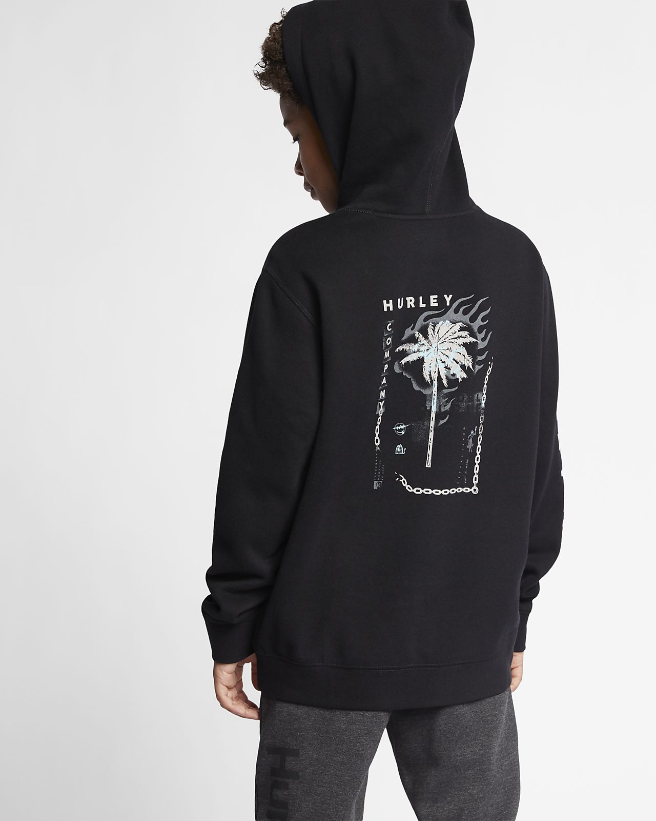 Hurley Burn Baby Boys' Fleece Pullover Hoodie