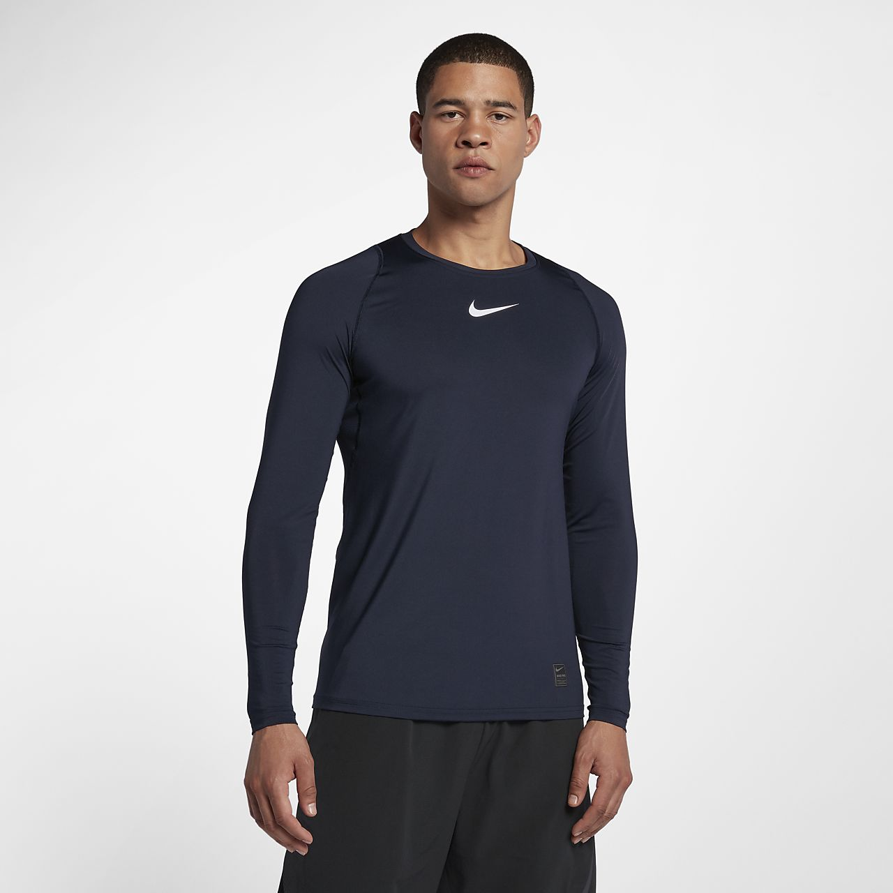 0d2247ead Nike Pro Top Men's Fitted Long-Sleeve Top