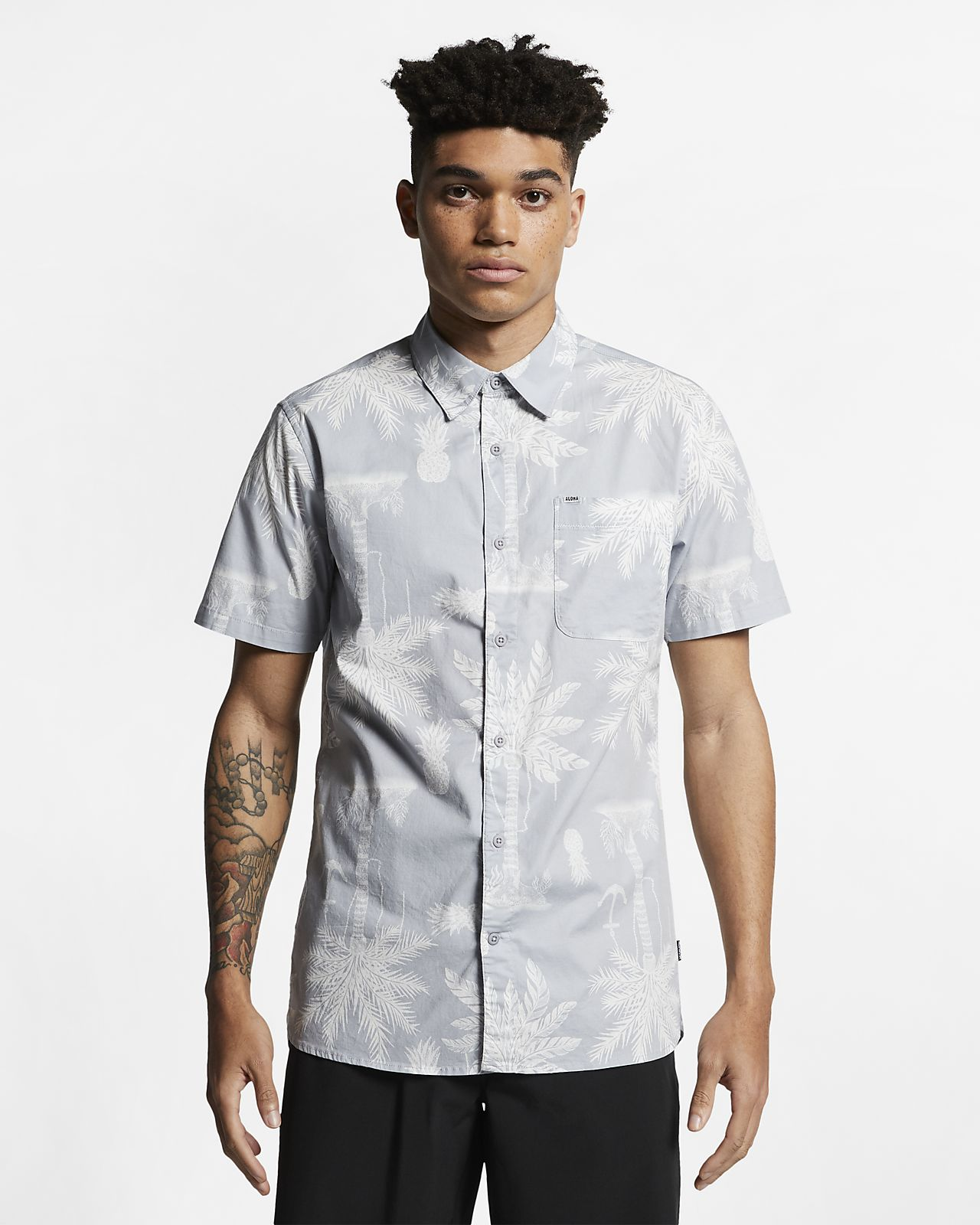 Hurley Asylum Stretch Men's Short-Sleeve Shirt
