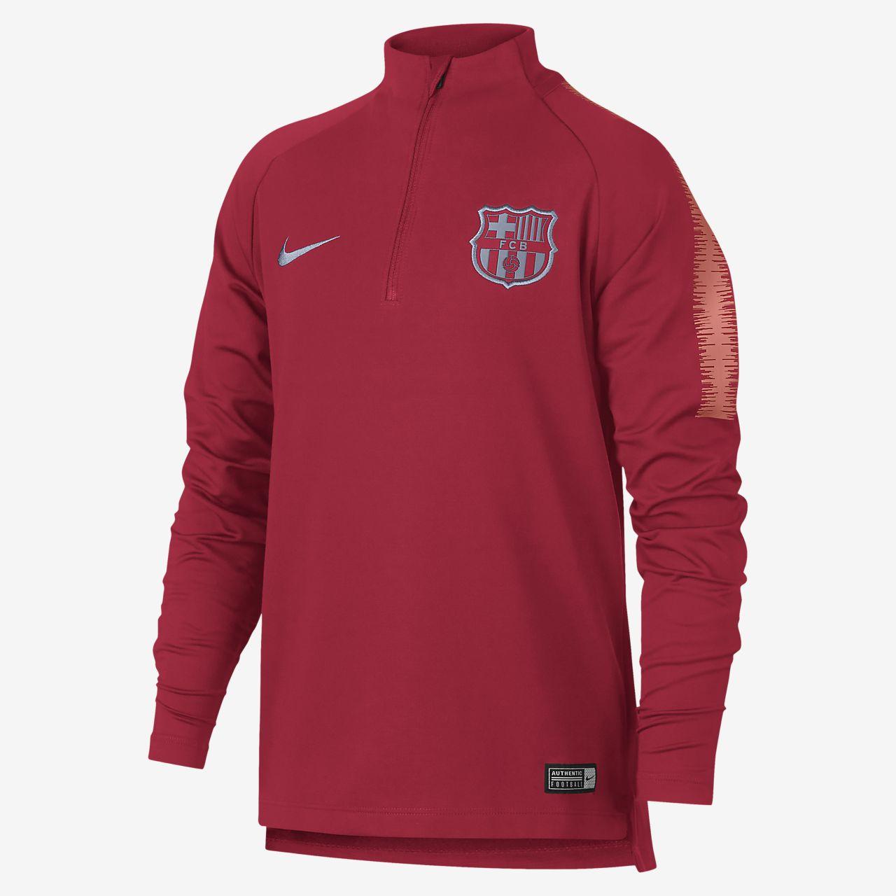 FC Barcelona Dri-FIT Squad Drill Older Kids  Long-Sleeve Football ... ed622e211