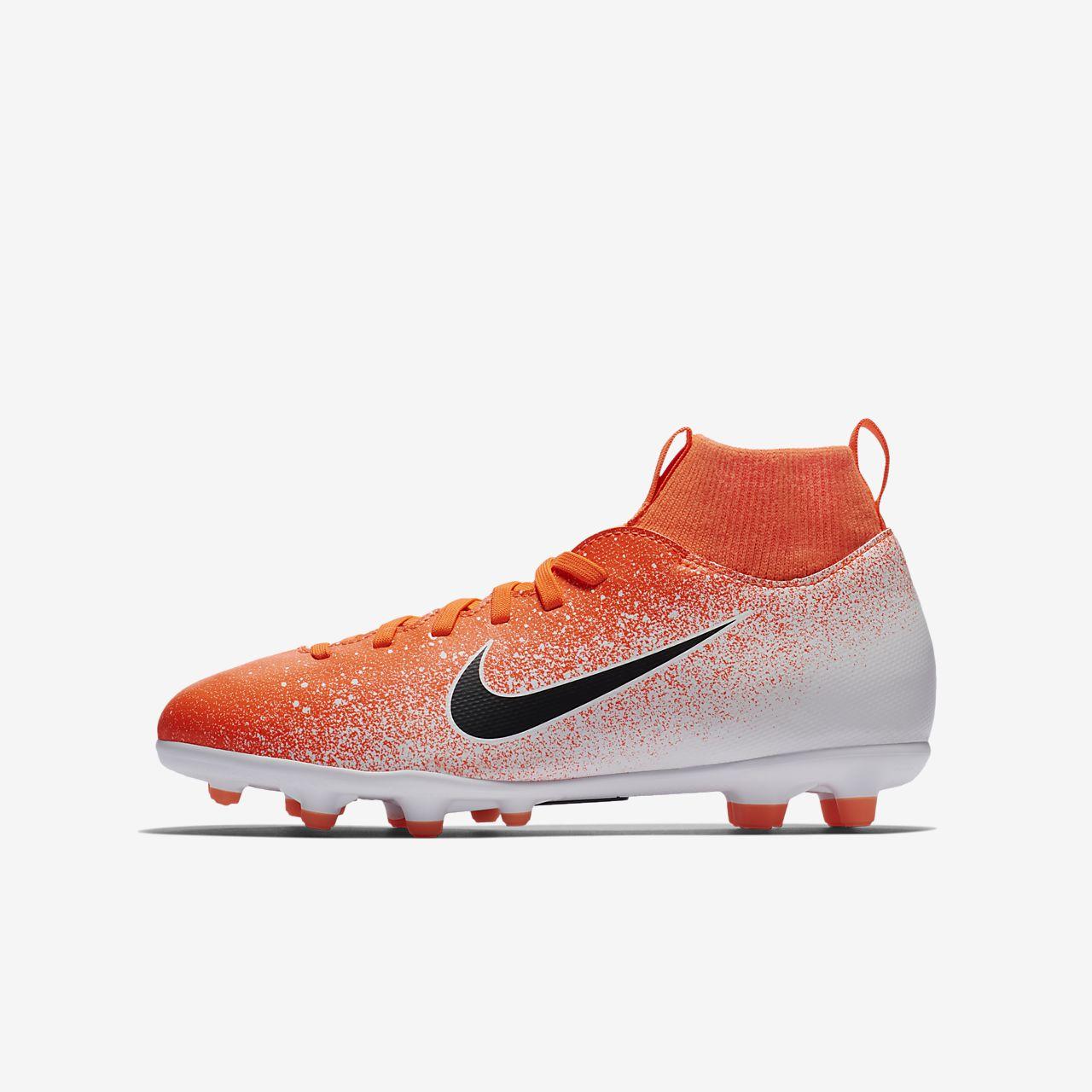 รองเท้าสตั๊ดฟุตบอลเด็กเล็ก/โตสำหรับพื้นหลายประเภท Nike Jr. Mercurial Superfly VI Club
