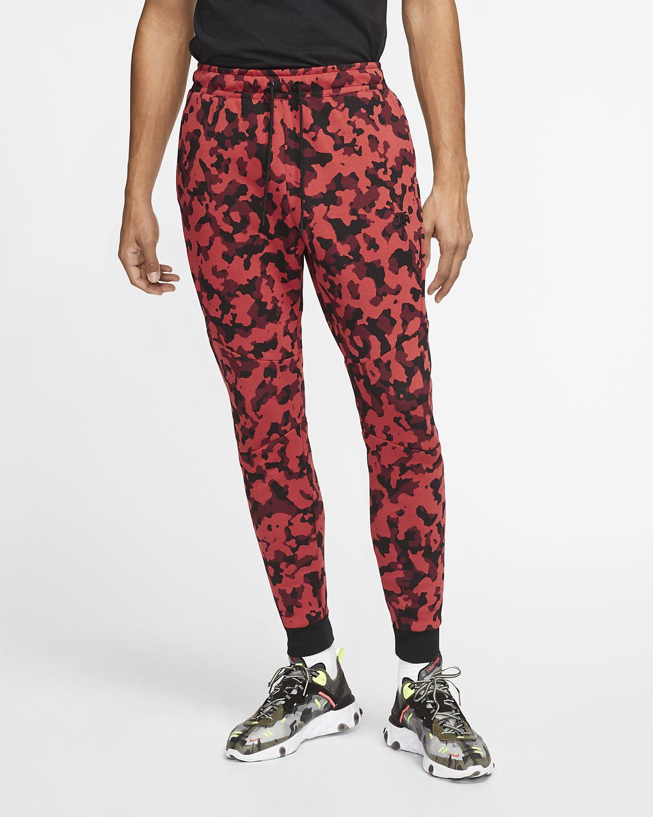Joggingbyxor Nike Sportswear Tech Fleece med tryck för män