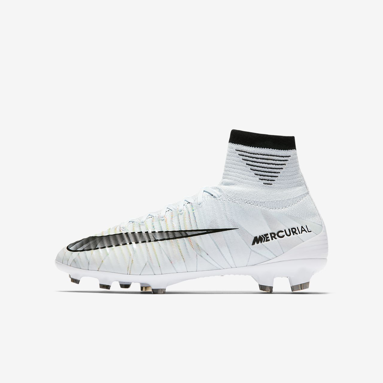 cf4c67697 ... mens boots soft ground ah1785 401 white blue tint 0769b a2b33  get nike  jr. mercurial superfly v cr7 dynamic fit fotballsko til gress for små store