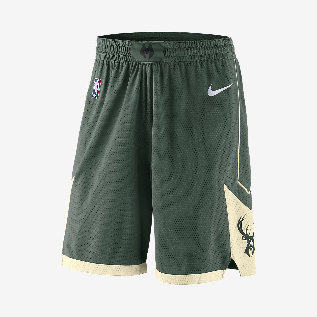 Shorts de NBA para hombre Milwaukee Bucks Nike Icon Edition Swingman