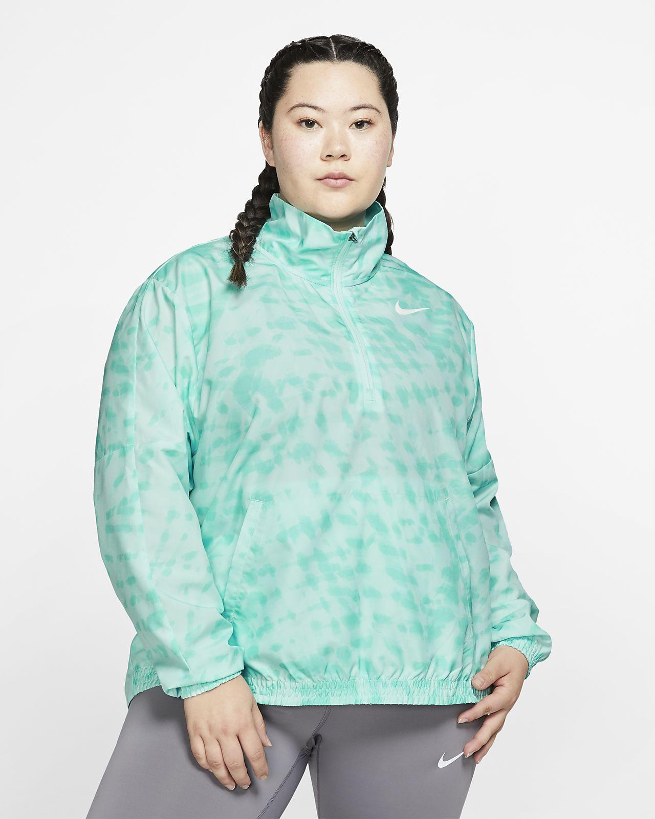Nike Dri-FIT Women's 1/2-Zip Printed Running Jacket (Plus Size)