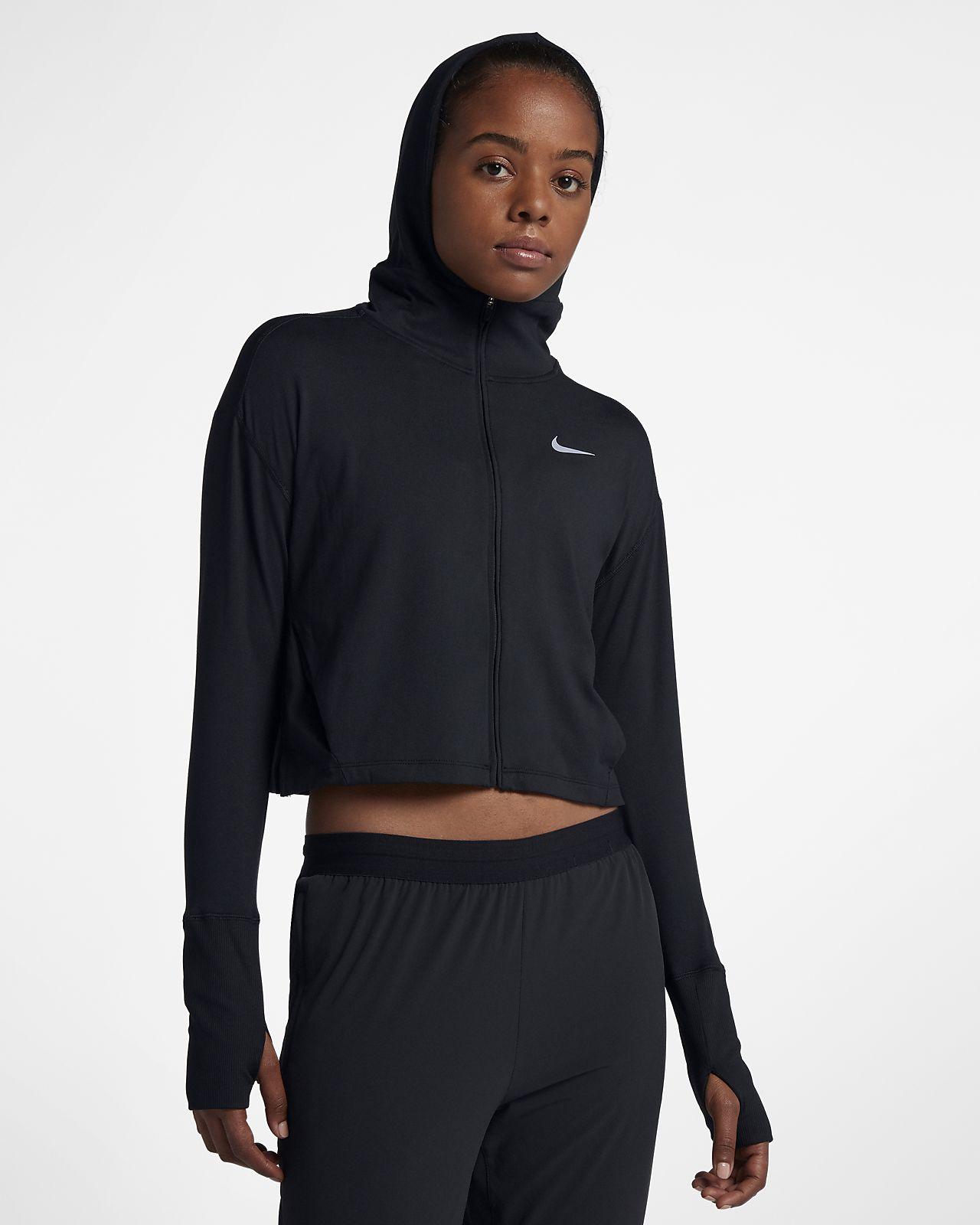 Nike løbehættetrøje med lynlås til kvinder