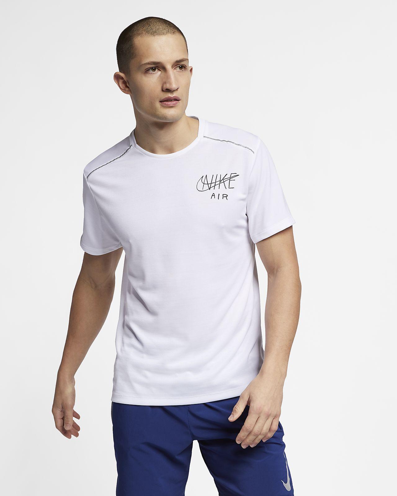 Nike Dri-FIT Miler Kurzarm-Laufoberteil mit Grafik für Herren