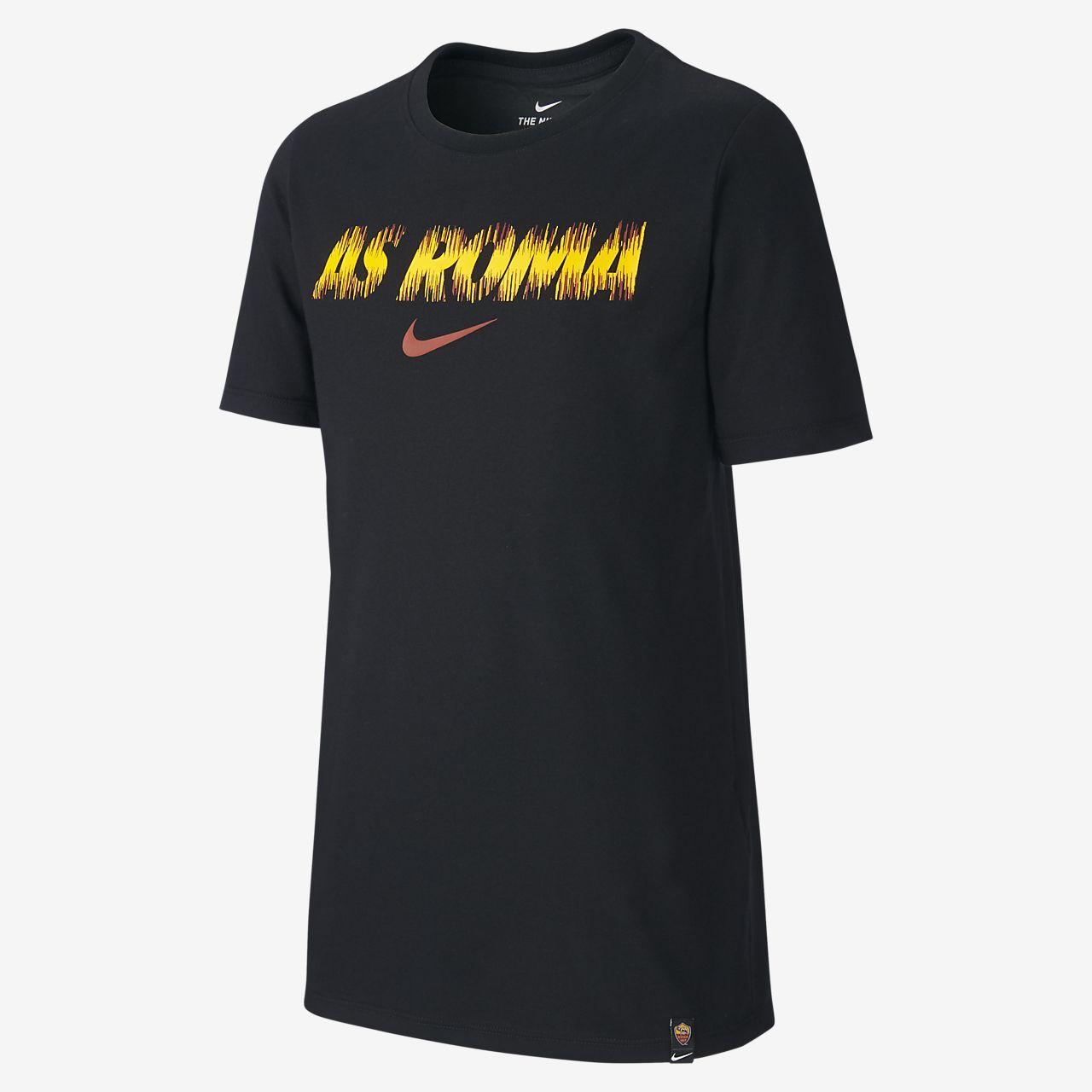 Męski T-shirt piłkarski dla dużych dzieci Nike Dri-FIT A.S. Roma