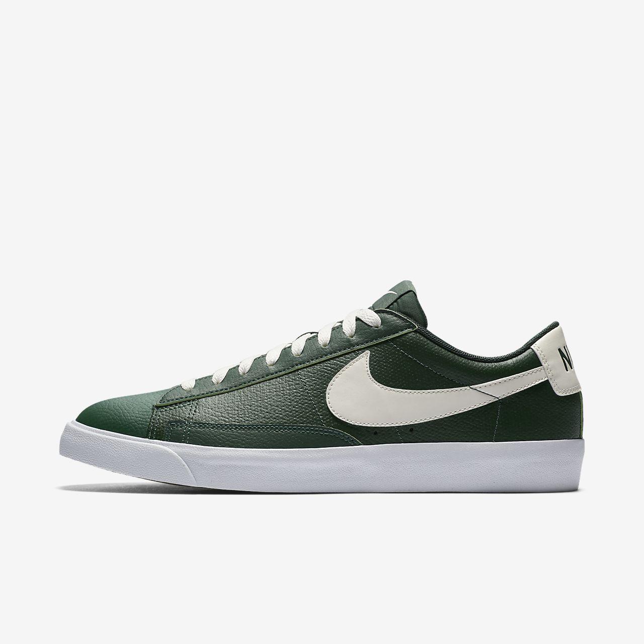 d6d6aa97c05 Men s Nike Blazer Low Leather Casual Shoes Fir Sail Gum Medium Brown AJ9515  300