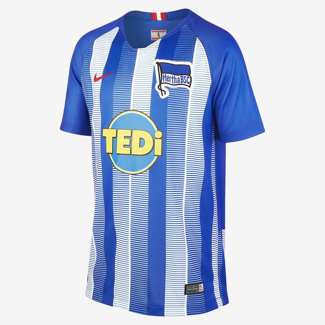 2018 19 Hertha BSC Stadium Home Camiseta de fútbol - Niño a. Nike.com ES 21830522c3b80