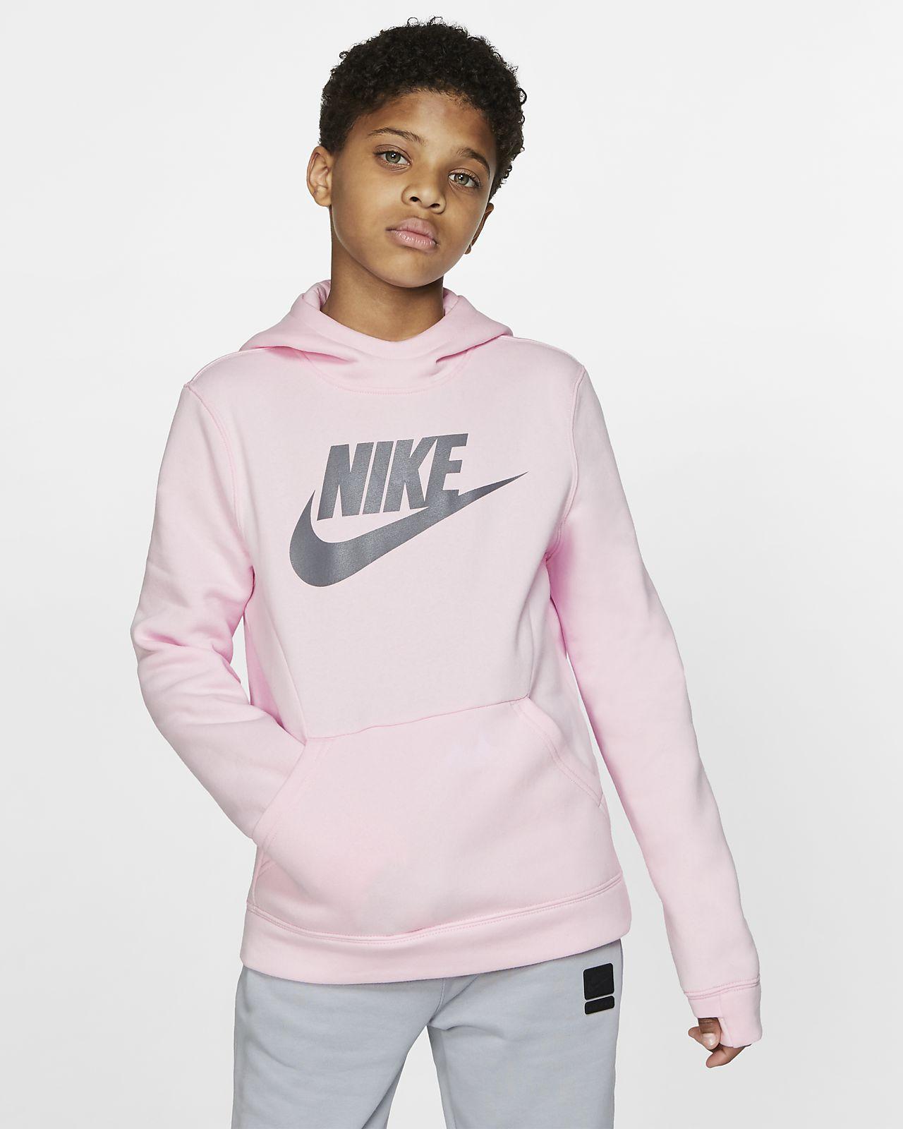 7e49f092c5 Nike Sportswear kapucnis, belebújós polár fiú pulóver. Nike.com HU