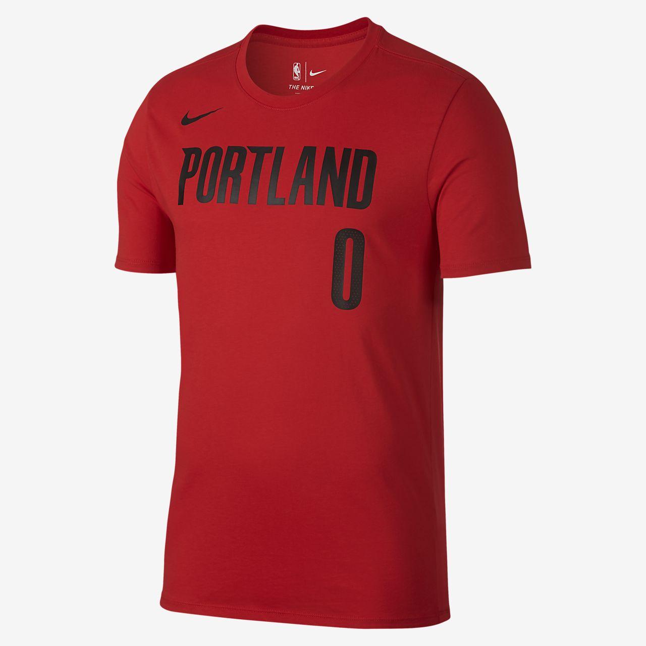 Damian Lillard Portland Trail Blazers Nike Dri-FIT Men s NBA T-Shirt ... 969df7f7eba