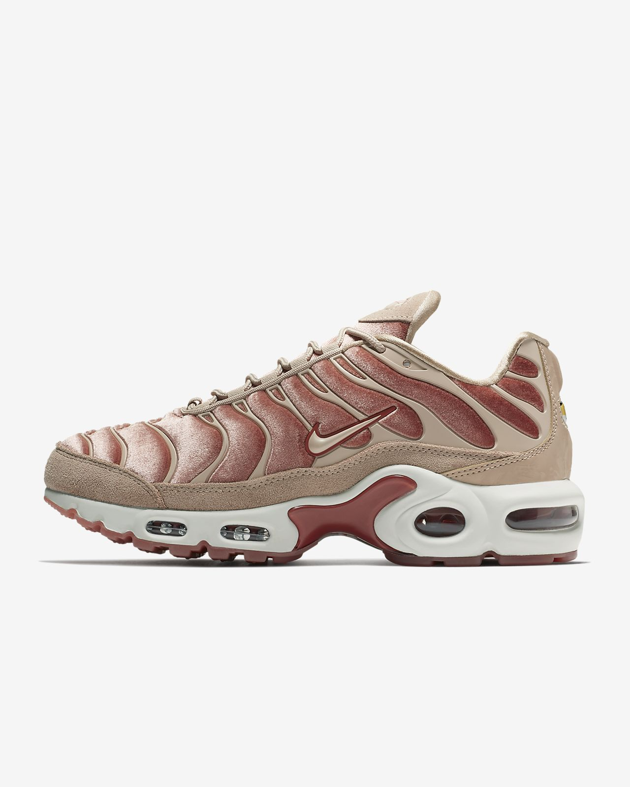 Nike Air Max Plus Womens Size 7.5 White Pink Running Shoes Sneakers