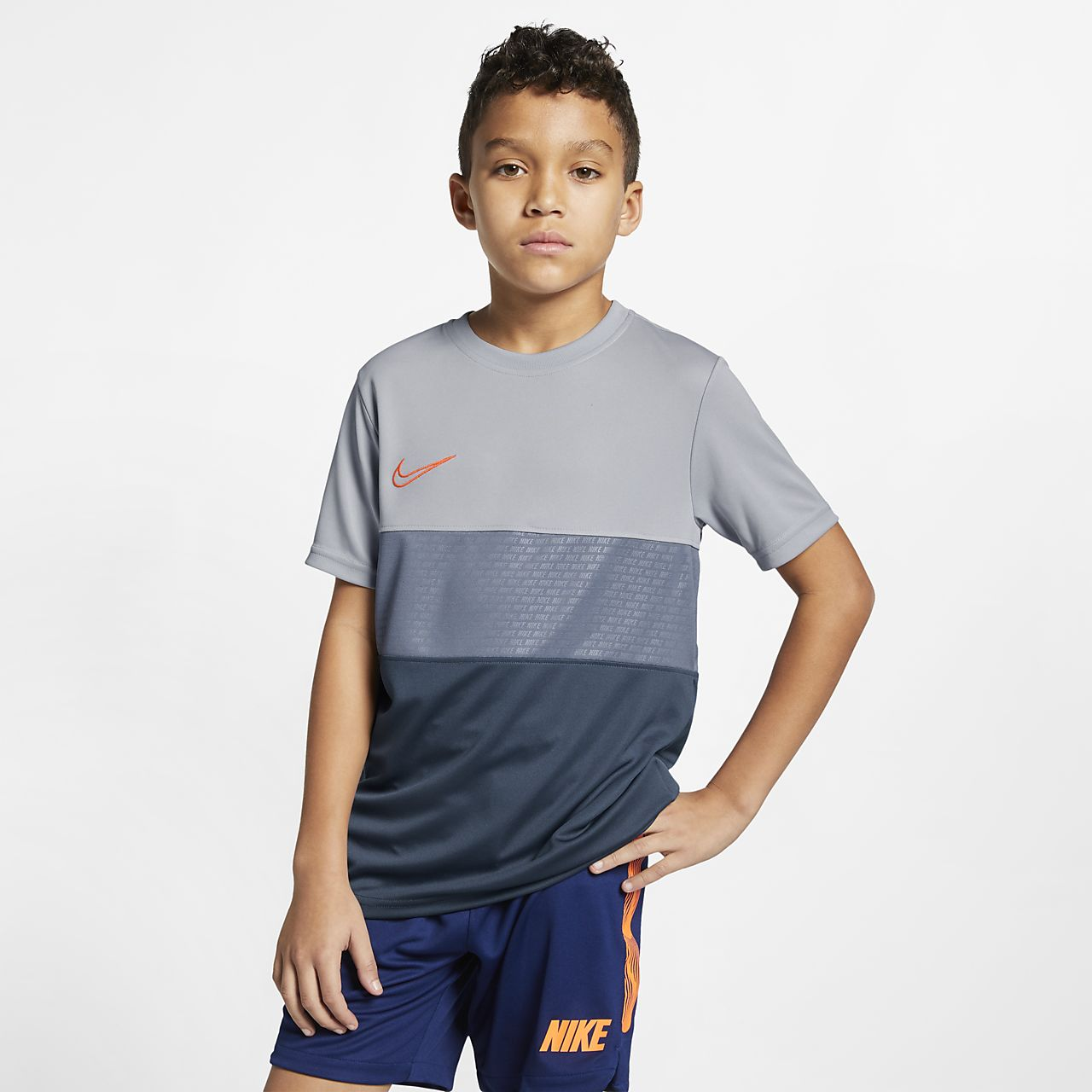 Kortärmad fotbollströja Nike Dri-FIT Academy för ungdom