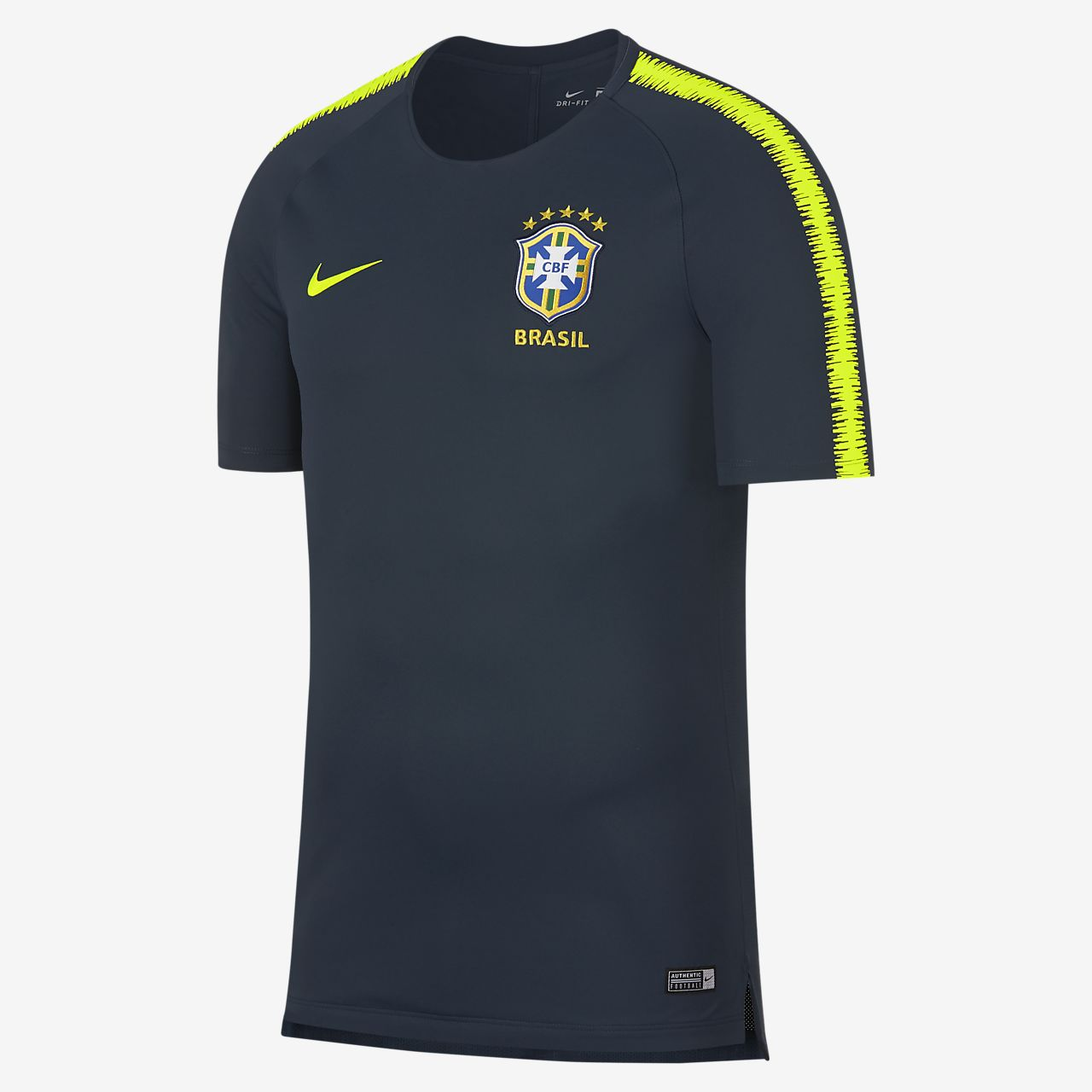 Brasil CBF Breathe Squad Camiseta de fútbol - Hombre. Nike.com ES 438925f8b162a