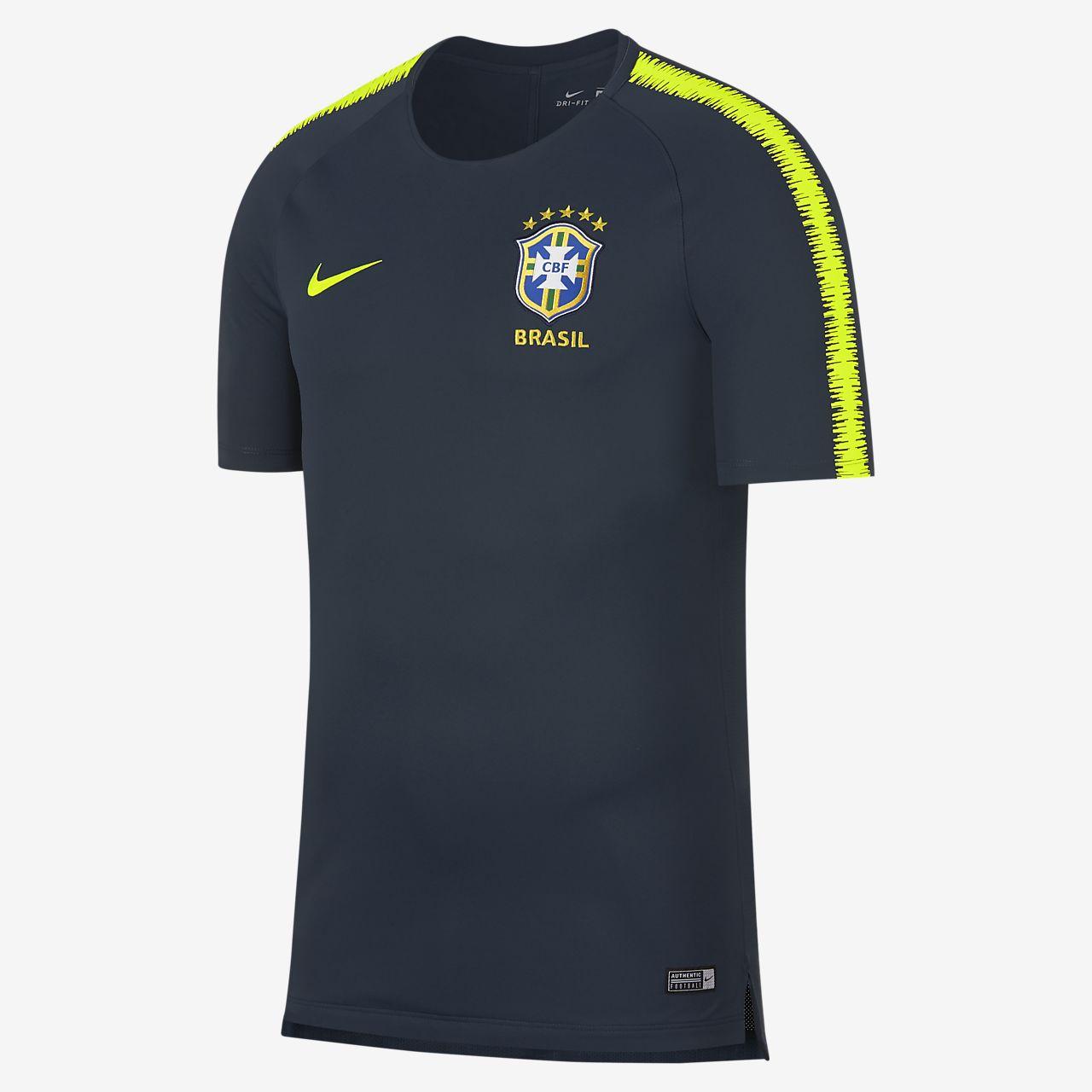 Haut de football Brasil CBF Breathe Squad pour Homme