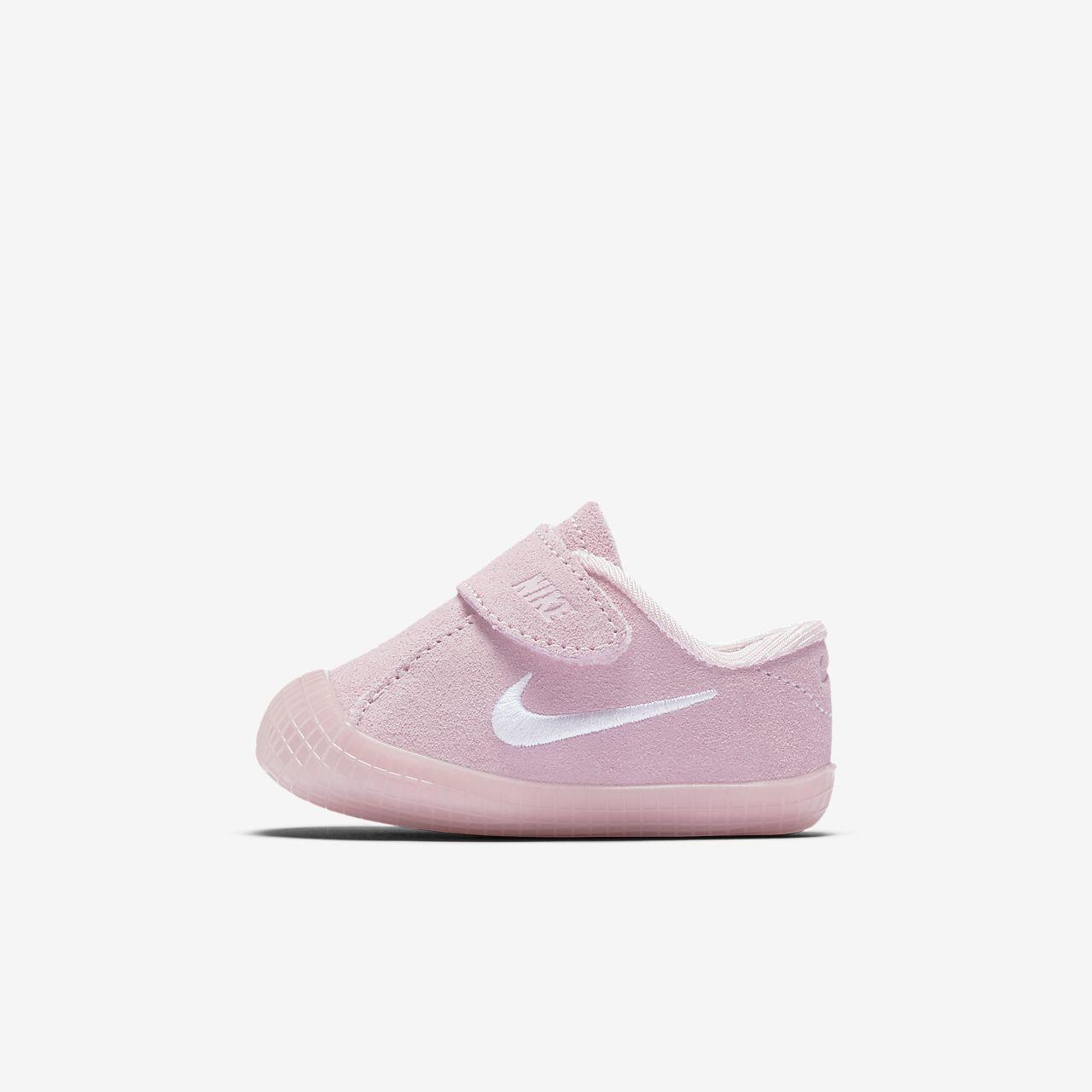 Nike Waffle 1 Kids Booties Prism Pink/White