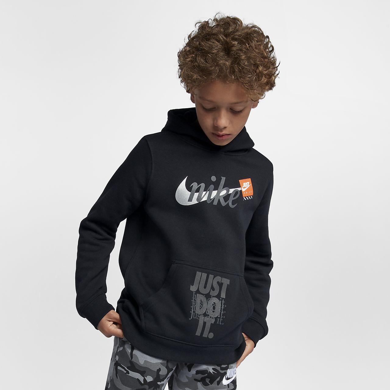 Nike Sportswear Big Kids  (Boys ) Just Do It Pullover Hoodie. Nike.com 360a34f4c
