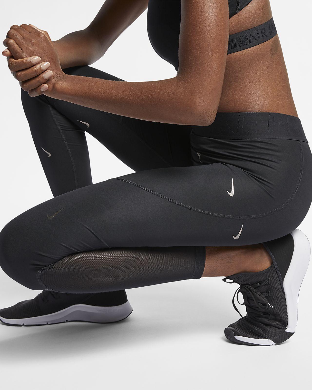 best sneakers d5fe8 d2bf4 ... Nike Pro Women s Metallic Printed Tights