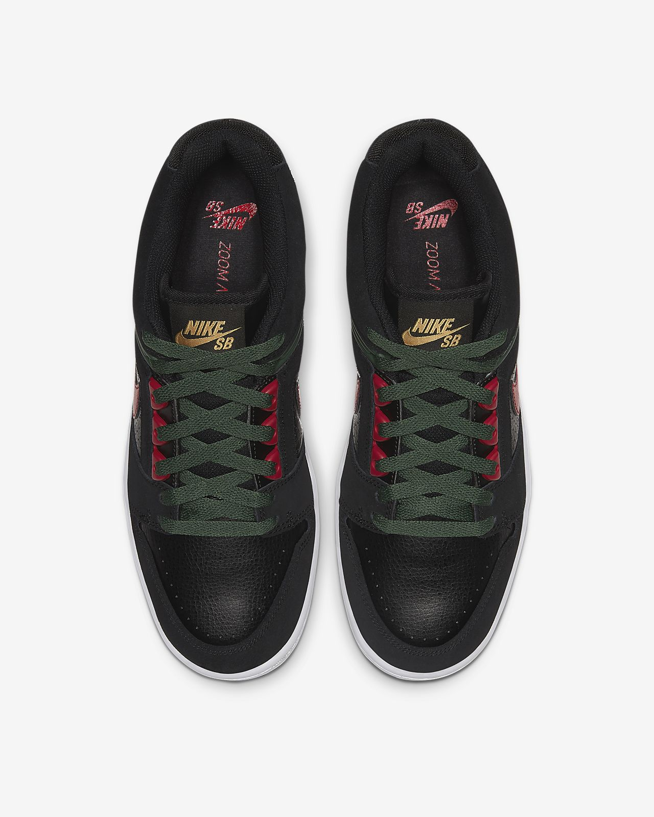 Nike SB Air Force II Low Shoes (black gym red)