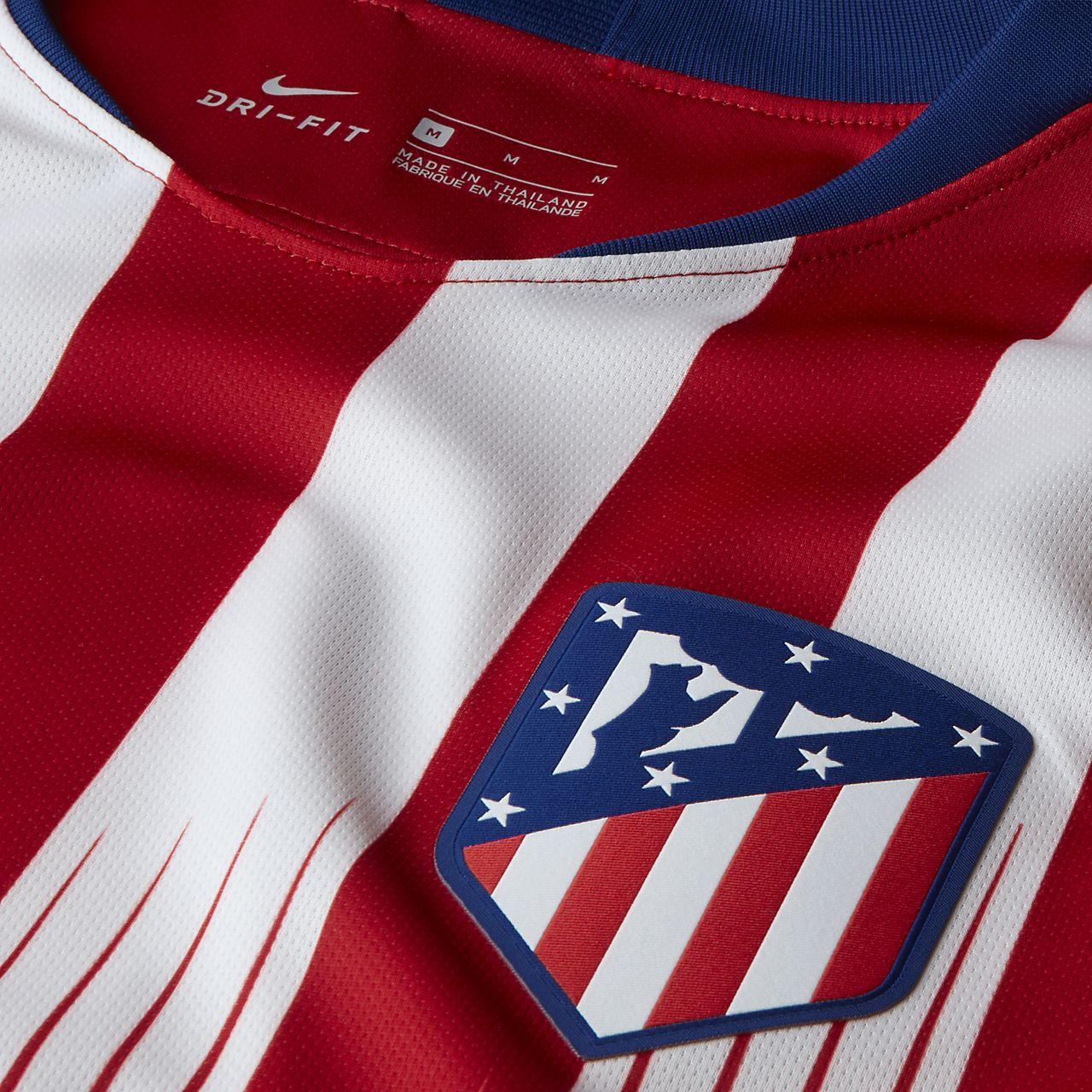 d6c21a5b0f40a ... Camiseta de fútbol para hombre de local Stadium del Atlético de Madrid  2018 19