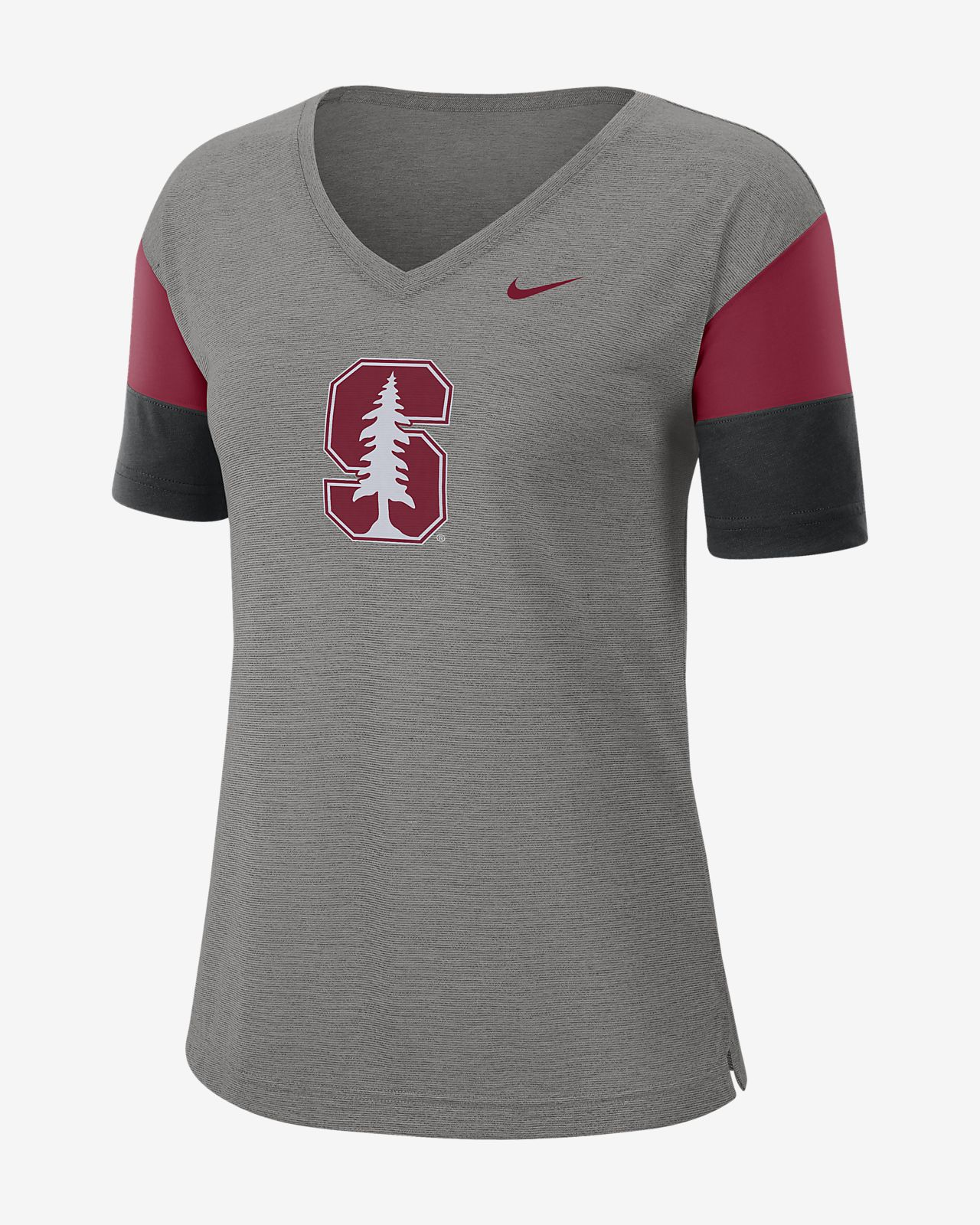 Nike College Breathe (Stanford) Women's Short-Sleeve V-Neck Top