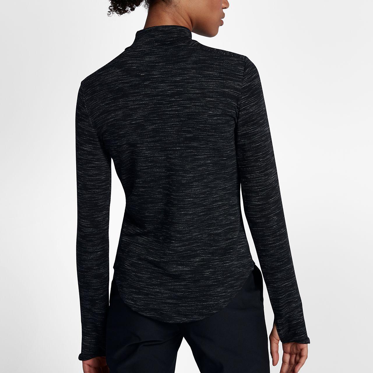 nike dry women 39 s long sleeve golf top. Black Bedroom Furniture Sets. Home Design Ideas