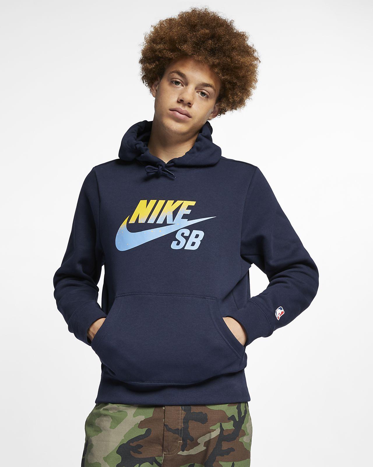 เสื้อสเก็ตบอร์ดมีฮู้ดผู้ชาย Nike SB Icon