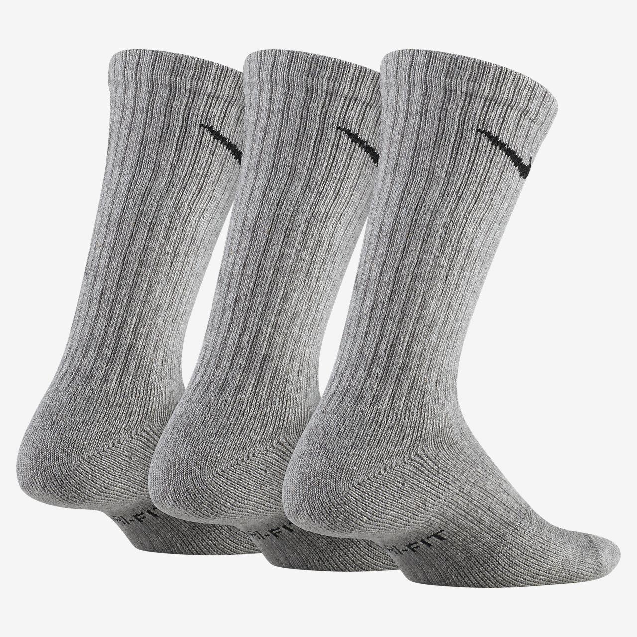Calcetines de entrenamiento para niños Nike Performance Cushioned Crew (3 pares)