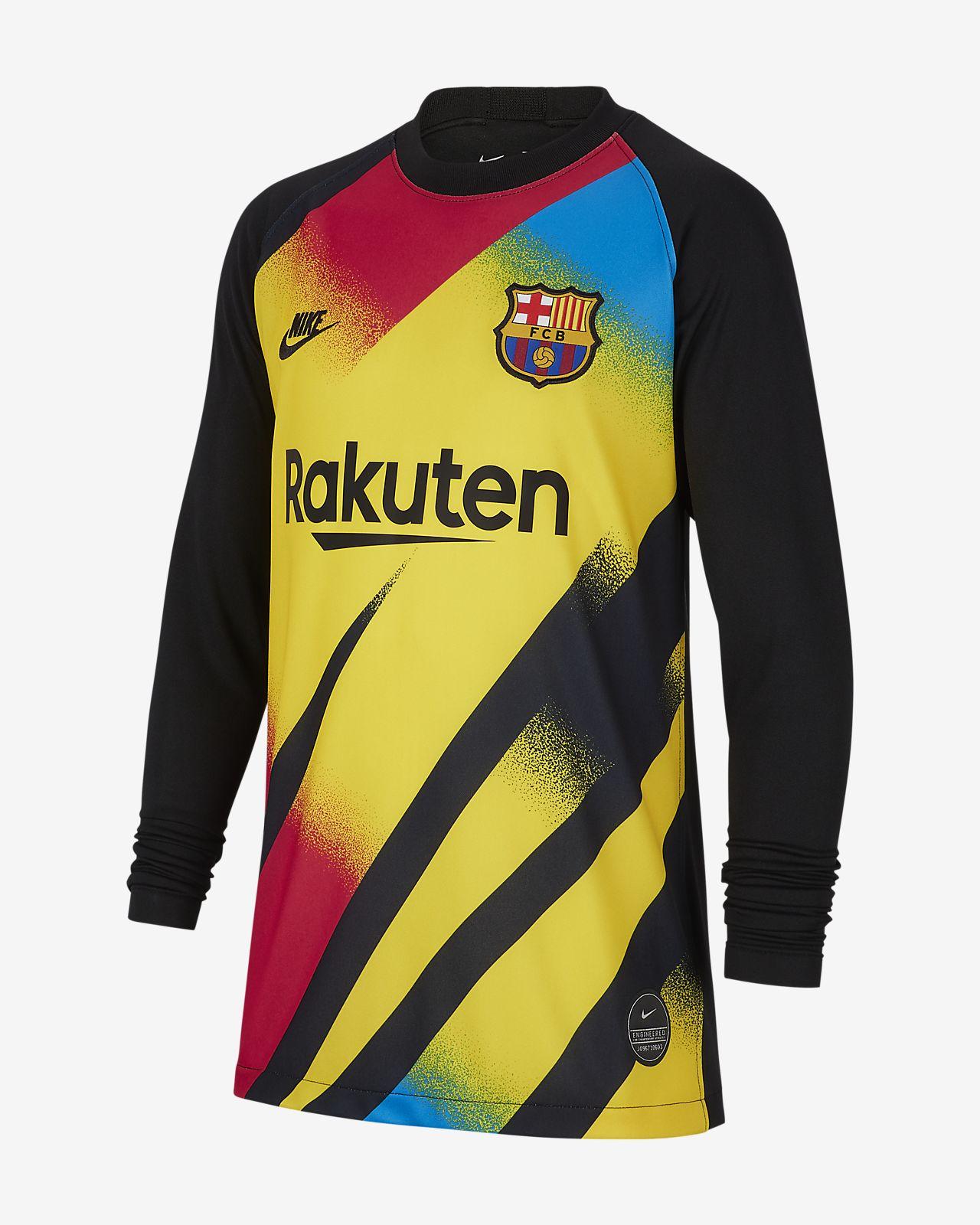 brand new 119bf ecc1a FC Barcelona 2019/20 Stadium Goalkeeper Older Kids' Football Shirt