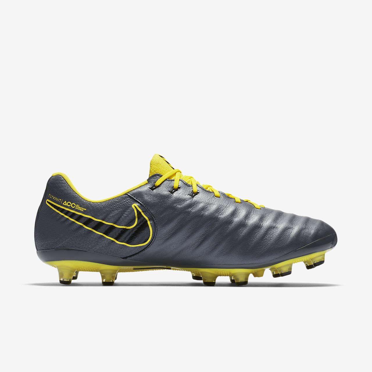fdff7449f Nike Tiempo Legend 7 Elite FG Homme Football Crampons Taille 4 US Bleu  Blanc Chaussures de football