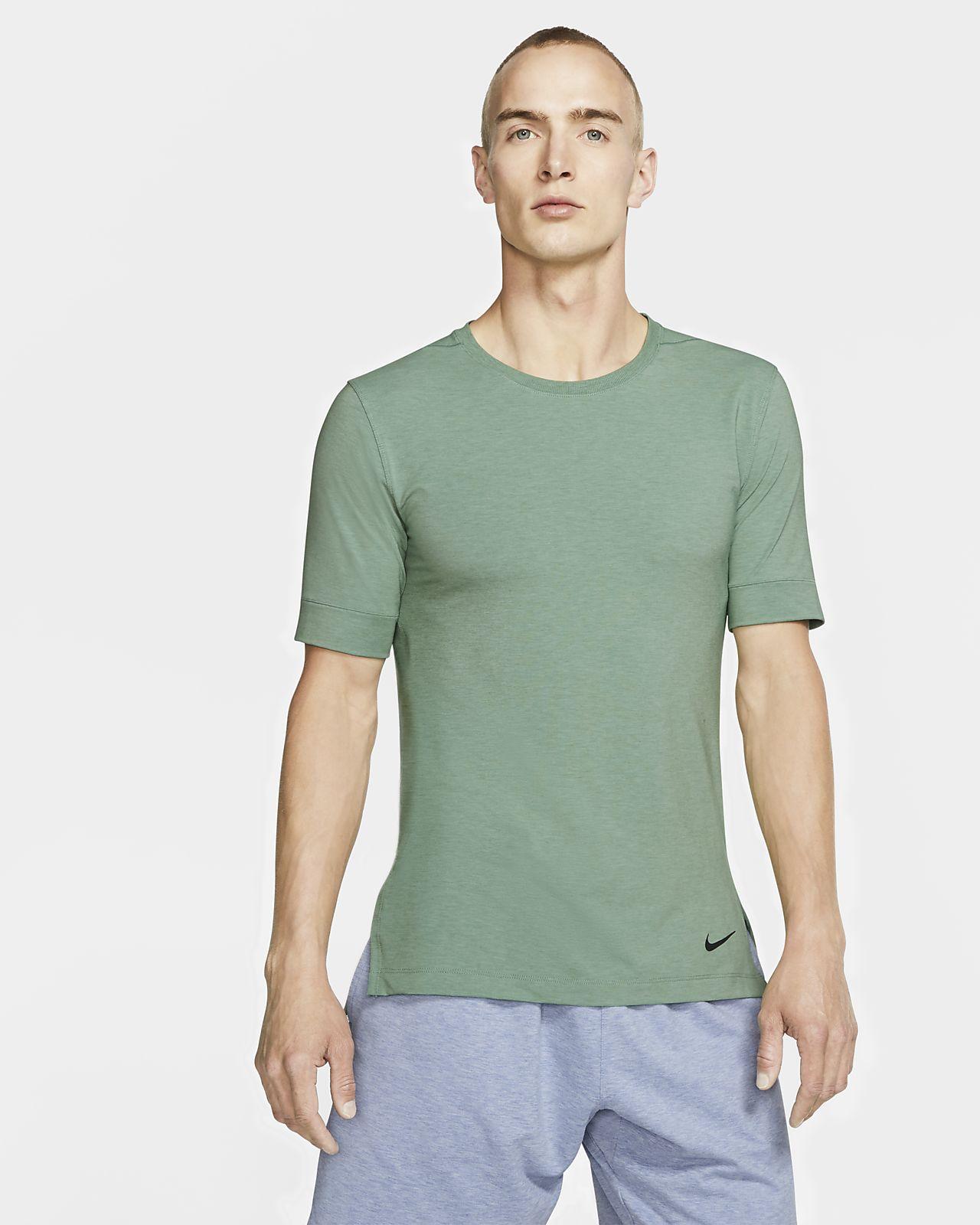 Prenda para la parte superior de entrenamiento de yoga de manga corta para hombre Nike Dri-FIT