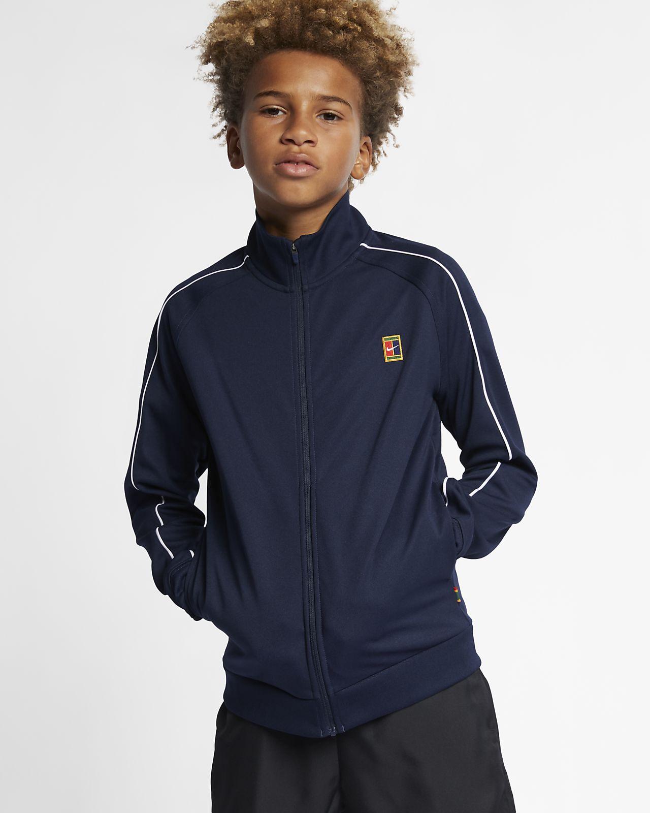NikeCourt-tennisopvarmningsjakke til drenge