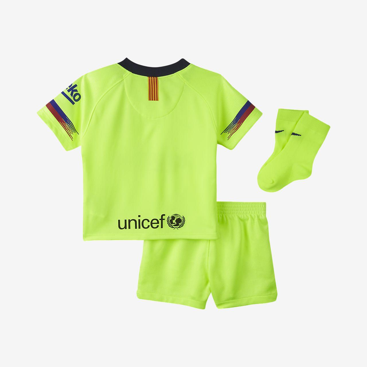 675d13eb8 2018 19 FC Barcelona Stadium Away Baby  amp  Toddler Football Kit ...
