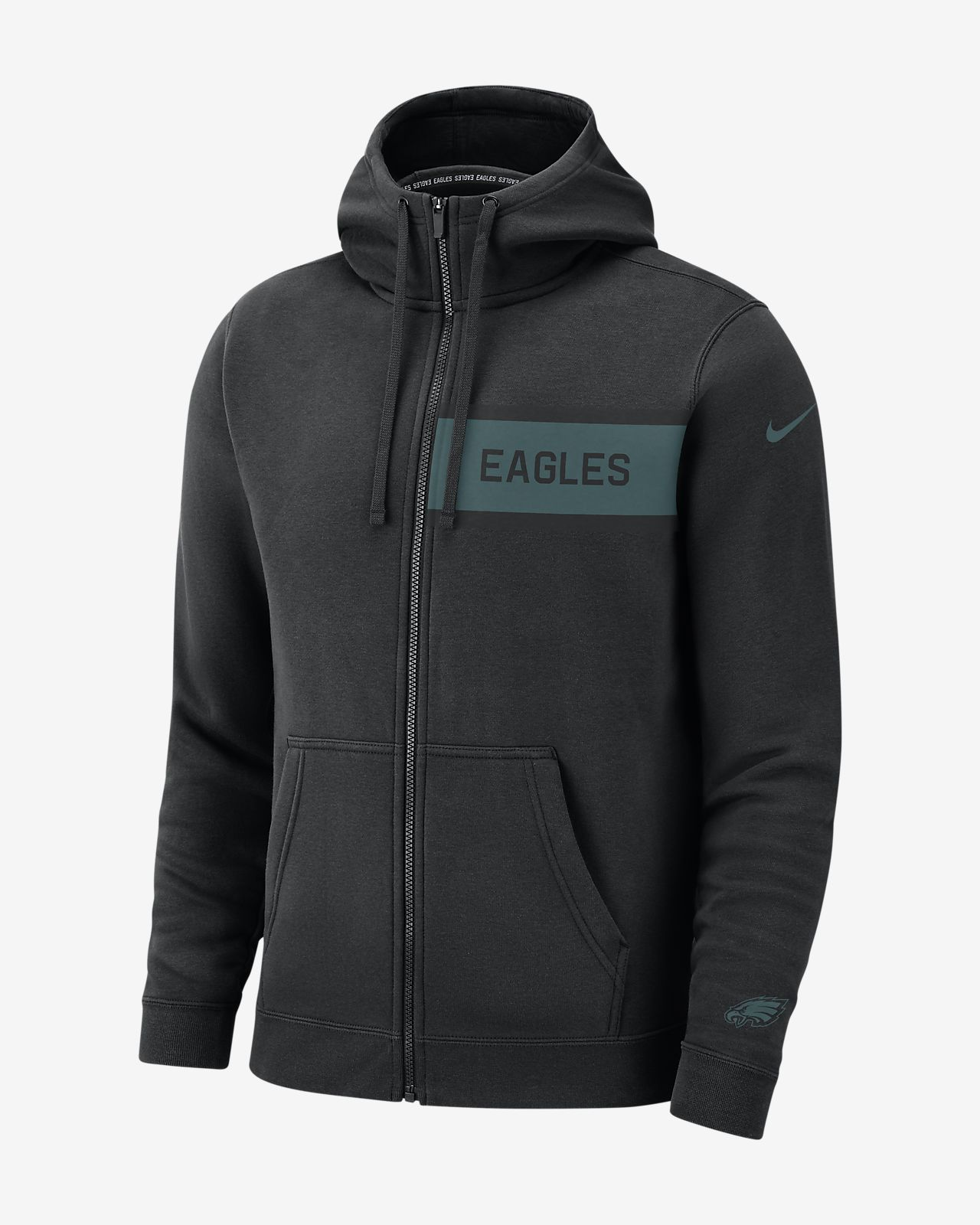 f1c2737b24 Nike (NFL Eagles) Men's Club Fleece Full-Zip Hoodie. Nike.com CH