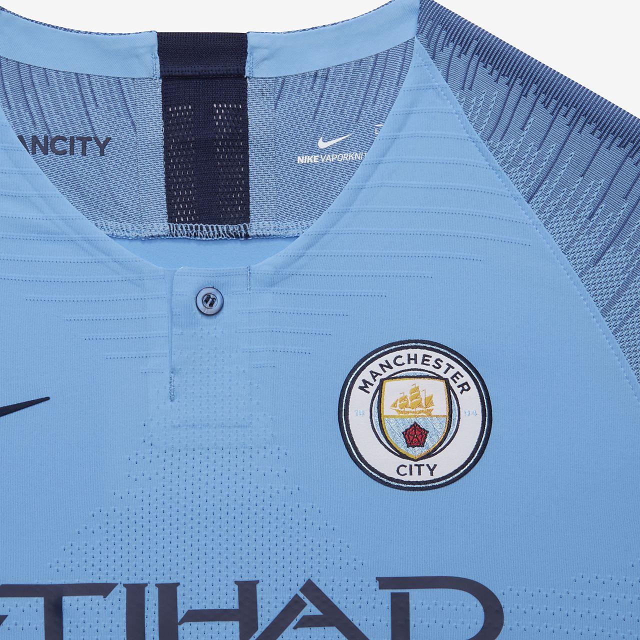 big sale f503a 20b10 2018/19 Manchester City FC Vapor Match Home Older Kids' Football Shirt