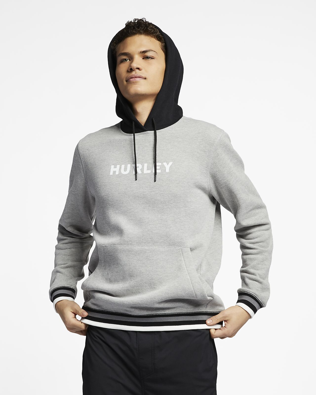 Hoodie pullover de lã cardada Hurley East Coast para homem