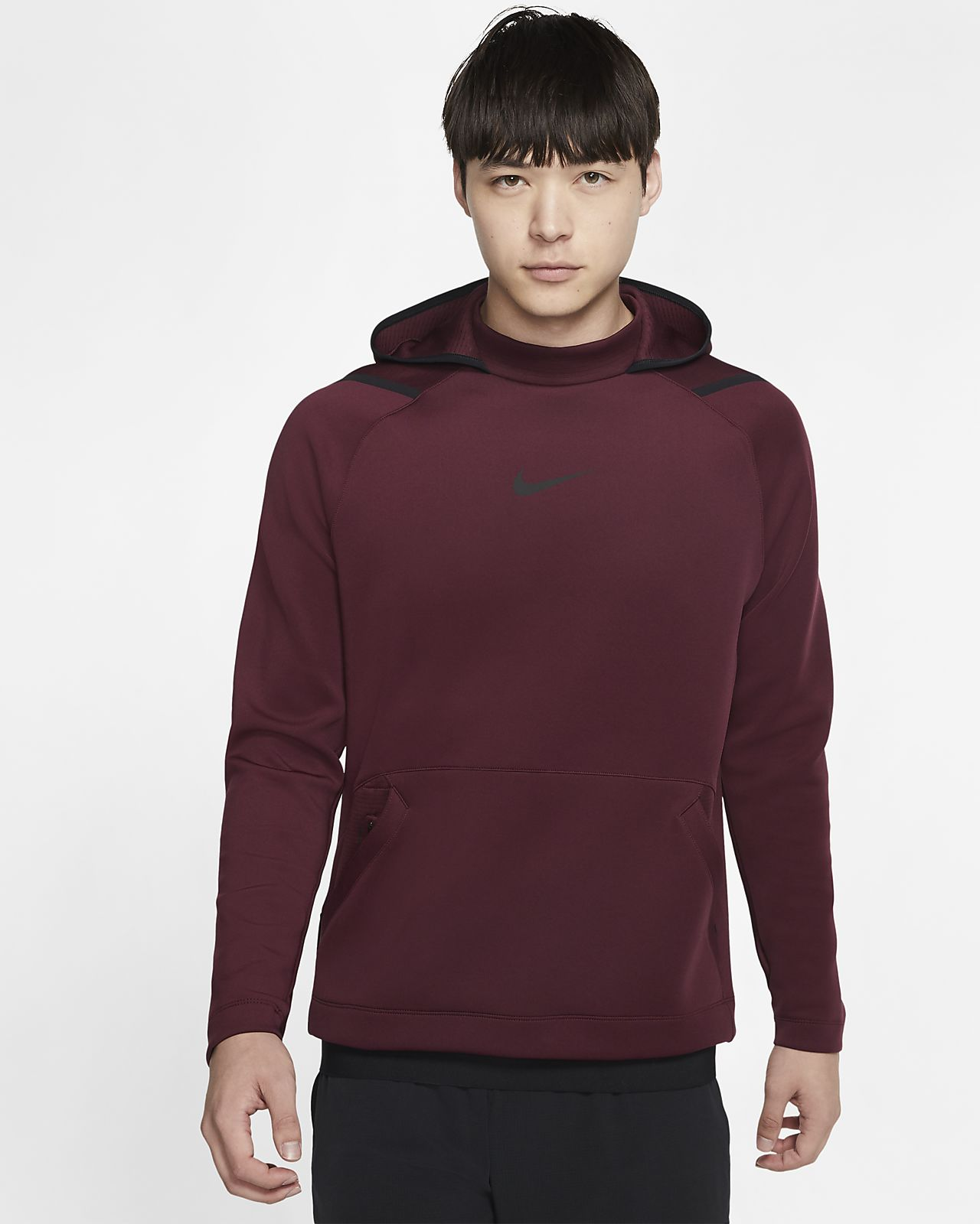 Nike Pro-pullover-hættetrøje i fleece til mænd
