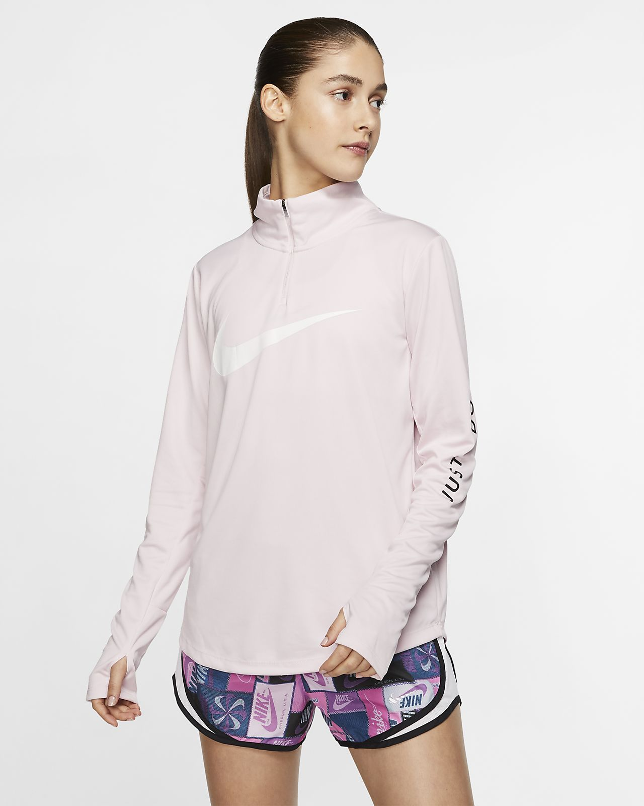 Nike Çeyrek Fermuarlı Kadın Koşu Üstü