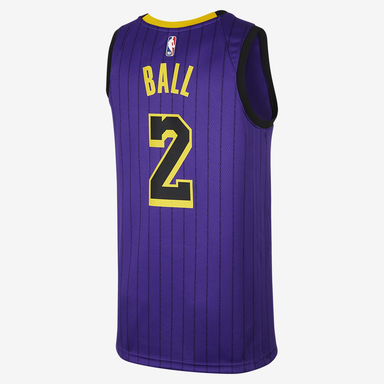 be9b9f2ad45 ... Lonzo Ball City Edition Swingman (Los Angeles Lakers) Men's Nike NBA  Connected Jersey